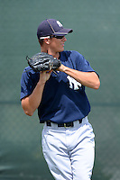 GCL Yankees 2 pitcher Dalton Dawe (40) during practice before a game against the GCL Phillies on July 22, 2013 at Carpenter Complex in Clearwater, Florida.  GCL Yankees defeated the GCL Phillies 2-1.  (Mike Janes/Four Seam Images)