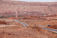 Morocco.  Tamdaght Village, adjacent to the  Historic Glaoui Ksar (out of picture).