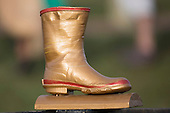 The Golden Gumboot trophy that was retained by Onewhero with their victory over neighbours Te Kauwhata. Counties Manukau Premier Club rugby game between Te Kauwhata and Onewhero, played at Te Kauwhata on Saturday April 16th 2016. Onewhero won the game 37 - 0 after leading 13 - 0 at Halftime. Photo by Richard Spranger.