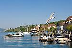 DEU, Deutschland, Baden-Wuerttemberg, Ueberlingen am Bodensee: Seepromenade und Schiffsanlegestelle | DEU, Germany, Baden-Wuerttemberg, Ueberlingen at Lake Constance: seaside promenade and landing stage