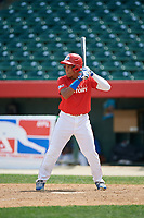 Emmanuel Rodriguez (13) bats during the Dominican Prospect League Elite Underclass International Series, powered by Baseball Factory, on August 2, 2017 at Silver Cross Field in Joliet, Illinois.  (Mike Janes/Four Seam Images)