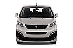 Car photography straight front view of a 2018 Peugeot Traveller Business 4 Door Mini Van