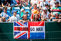 spectators, fans, HAMILTON Lewis (gbr), Mercedes AMG F1 GP W12 E Performance, VERSTAPPEN Max (ned), Red Bull Racing Honda RB16B, during the Formula 1 Pirelli British Grand Prix 2021, 10th round of the 2021 FIA Formula One World Championship from July 16 to 18, 2021 on the Silverstone Circuit, in Silverstone, United Kingdom - <br /> Formula 1 GP Great Britain Silverstone 18/07/2021<br /> Photo DPPI/Panoramic/Insidefoto <br /> ITALY ONLY