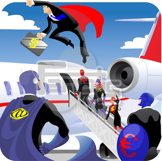 Illustrative representation of business travel