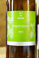 Cuvee impressions, (d.) de Blanes. Domaine (d.) de Blanes by Marie-Pierre Bories. Roussillon. France. Europe. Bottle.