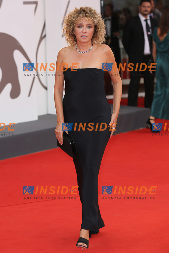 """VENICE, ITALY - AUGUST 28: Valeria Golino walks the red carpet ahead of the Opening Ceremony and the """"La Verite"""" (The Truth) screening during the 76th Venice Film Festival at Sala Grande on August 28, 2019 in Venice, Italy., 2019 in Venice, Italy. (Photo by Marck Cape/Inside Foto)<br /> Venezia 28/08/2019"""