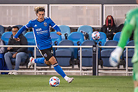 SAN JOSE, CA - MAY 01: Cade Cowell #44 of the San Jose Earthquakes dribbles the ball during a game between San Jose Earthquakes and D.C. United at PayPal Park on May 01, 2021 in San Jose, California.