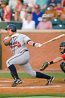 Mississippi first baseman Kala Ka'aihue (52) follows through on his swing versus Chattanooga at AT&T Field in Chattanooga, TN, Wednesday, July 26, 2007.