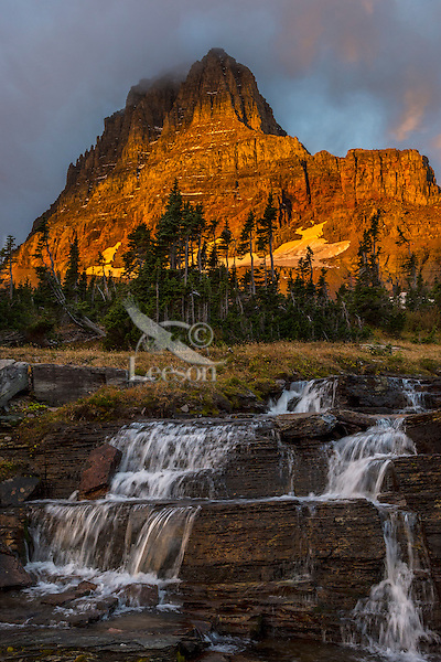 Mount Clements at sunrise near Logan Pass, Glacier National Park, Montana.  Fall.