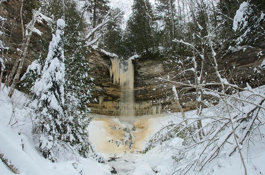 Early winter at Munising Falls. Munising, MI
