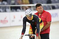 Waikato BOP Jaime Nielsen at the BikeNZ Elite & U19 Track National Championships, Avantidrome, Home of Cycling, Cambridge, New Zealand, Sunday, March 16, 2014. Credit: Dianne Manson