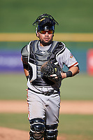 Scottsdale Scorpions Eliezer Zambrano (39), of the San Francisco Giants organization, during a game against the Mesa Solar Sox on October 21, 2016 at Sloan Park in Mesa, Arizona.  Mesa defeated Scottsdale 4-3.  (Mike Janes/Four Seam Images)