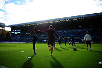 Leroy Fer (left)  and Jay Fulton of Swansea City during the pre-match warm-up for the Sky Bet Championship match between Aston Villa and Swansea City at Villa Park in Birmingham, England, UK.  Saturday 20 October  2018