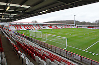 General view of the ground ahead of kick-off - Stevenage vs Tranmere Rovers - Sky Bet League One Football at the Lamex Stadium, Broadhall Way, Stevenage - 03/04/15 - MANDATORY CREDIT: Gavin Ellis/TGSPHOTO - Self billing applies where appropriate - contact@tgsphoto.co.uk - NO UNPAID USE
