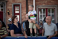 little rainbow fan<br /> <br /> Mixed Relay TTT <br /> Team Time Trial from Knokke-Heist to Bruges (44.5km)<br /> <br /> UCI Road World Championships - Flanders Belgium 2021<br /> <br /> ©kramon