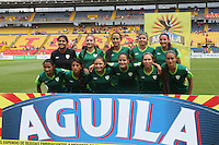 BOGOTA -COLOMBIA, 19-02-2017.La Equidad women's professional soccer team .Action game between  La Equidad and Independiente Santa Fe  during match for the date 1 of the Women´s  Aguila League I 2017 played at Nemesio Camacho El Campin stadium . Photo:VizzorImage / Felipe Caicedo  / Staff