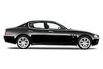Passenger side profile view of a 2009 Maserati Quattroporte S Sedan.