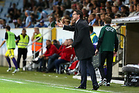 Thursday 08 August 2013<br /> Pictured: Malmo manager Rikard Norling<br /> Re: Malmo FF v Swansea City FC, UEFA Europa League 3rd Qualifying Round, Second Leg, at the Swedbank Stadium, Malmo, Sweden.
