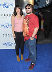 Jack Black and  Tanya Haden  at The Focus Features L.A. Premiere of The World's End held at The Cinerama Dome in Hollywood, California on August 21,2013                                                                   Copyright 2013 Hollywood Press Agency