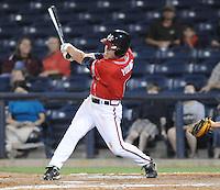10 April 2008: Outfielder Matt Young (6) of the Mississippi Braves, Class AA affiliate of the Atlanta Braves, in a game against the Mobile BayBears at Trustmark Park in Pearl, Miss. Photo by:  Tom Priddy/Four Seam Images