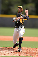 Pittsburgh Pirates pitcher Junior Lopez (94) during an Instructional League game against the Tampa Bay Rays on September 27, 2014 at the Charlotte Sports Park in Port Charlotte, Florida.  (Mike Janes/Four Seam Images)