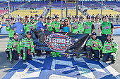 #18: Kyle Busch, Joe Gibbs Racing, Toyota Camry Interstate Batteries celebrates 200th victory