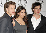 Paul Wesley, Nina Dobrev & Ian Somerhalder at the Twenty-Seventh Annual PaleyFest: William S. Paley Television Festival honoring the cast of  The Vampire Diaries at The  Saban Theatre in Beverly Hills, California on March 06,2010                                                                   Copyright 2010  DVS / RockinExposures