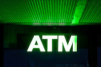 ATM machine.