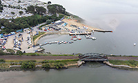BNPS.co.uk (01202) 558833. <br /> Pic: BNPS<br /> <br /> Pictured: Rockley Point in Poole Harbour, Dorset. <br /> <br /> A grieving mother who complained to a caravan park about the lack of safety measures at a beach where her son drowned has been offered a free holiday in response.<br /> <br /> Callum Osborne-Ward, 18, was swept away in front of his family moments after rescuing several children from a deadly riptide at Rockley Point in Poole Harbour, Dorset, last month.<br /> <br /> His devastated mother Ann Marie Osborne has since criticised holiday firm Haven, which owns the caravan park backing onto the waterway, for failing to warn visitors about the hidden riptide and advertising the beach on its website.