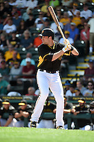 Pittsburgh Pirates infielder Neil Walker (18) during a Spring Training game against the Minnesota Twins on March 13, 2015 at McKechnie Field in Bradenton, Florida.  Minnesota defeated Pittsburgh 8-3.  (Mike Janes/Four Seam Images)
