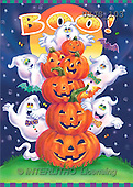 Janet, REALISTIC ANIMALS, Halloween, paintings, Stack of Pumpkins(USJS103,#A#)