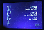 Special Tony Award achievement in the Theatre mentioned during the 2018 Tony Awards Nominations Announcement at The New York Public Library for the Performing Arts on May 1, 2018 in New York City.