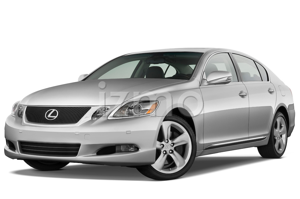 Low aggressive front three quarter view of a 2008 Lexus GS 460.