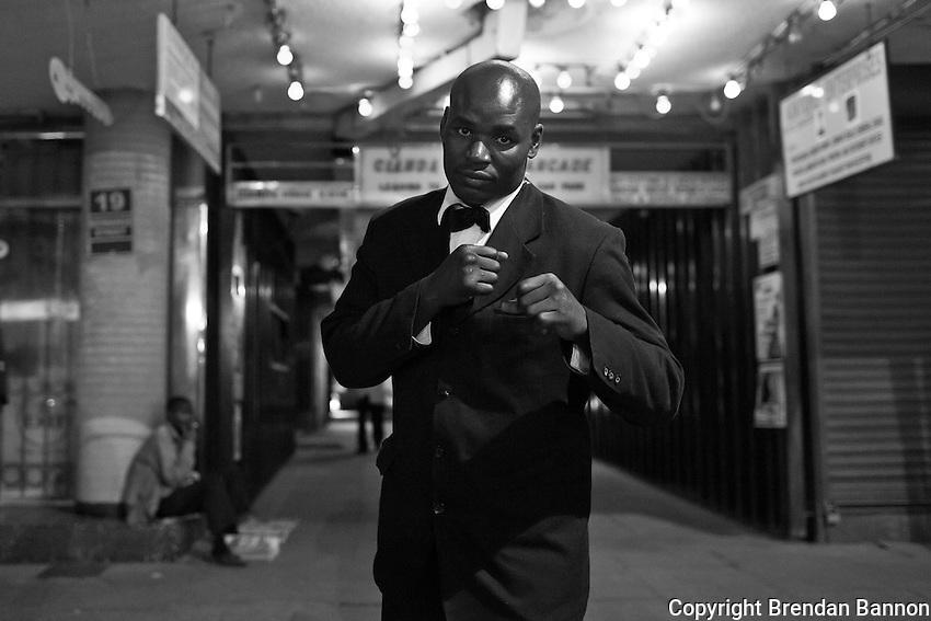 Phillip Otieno, Doorman at Dolce Vita in Nairobi. Otieno is also a professional boxer.