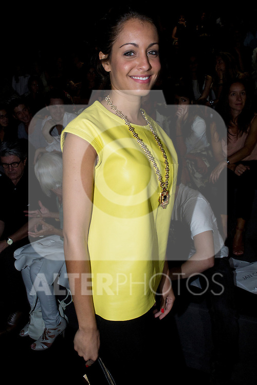 01.09.2012. Celebrities attending the Juanjo Oliva fashion show during the Mercedes-Benz Fashion Week Madrid Spring/Summer 2013 at Ifema. In the image Hiba Abouk  (Alterphotos/Marta Gonzalez)