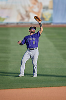 Peter Mooney (11) of the Albuquerque Isotopes during the game against the Salt Lake Bees at Smith's Ballpark on April 27, 2019 in Salt Lake City, Utah. The Isotopes defeated the Bees 10-7. This was a makeup game from April 26, 2019 that was cancelled due to rain. (Stephen Smith/Four Seam Images)