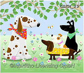 Kate, CUTE ANIMALS, LUSTIGE TIERE, ANIMALITOS DIVERTIDOS, paintings+++++Bandana gang,GBKM29,#ac#, EVERYDAY ,dogs,dog
