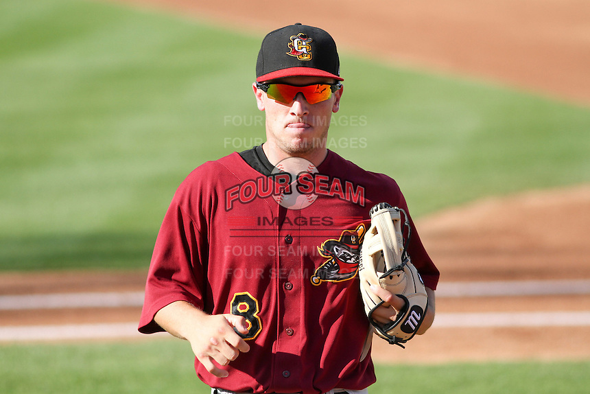 Quad Cities River Bandits shortstop Alex Bregman (8) during a Midwest League game against the Wisconsin Timber Rattlers on July 17th, 2015 at Fox Cities Stadium in Appleton, Wisconsin. Quad Cities defeated Wisconsin 4-2. (Brad Krause/Four Seam Images)