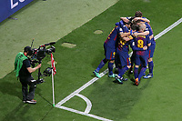 FC Barcelona's players celebrate goal during Spanish King's Cup Final match. April 21,2018.  *** Local Caption *** © pixathlon<br /> Contact: +49-40-22 63 02 60 , info@pixathlon.de