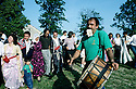 France 1990.A Kurdish wedding in Mainsat.France 1990.Mariage kurde a Mainsat