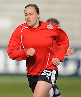 Washington Freedom forward Claire Zimmeck (25) during pre-game lineups.  Washington Freedom tied Chicago Red Stars 1-1 at The Maryland SoccerPlex,  Saturday April 11, 2009.