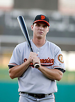 Gary Brown - AZL Giants (San Francisco Giants 1st round draft pick).Photo by:  Bill Mitchell/Four Seam Images..