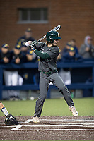 Michigan State Spartans pinch hitter Brendan Regan (25) at bat in the NCAA baseball game against the Michigan Wolverines on May 7, 2019 at Ray Fisher Stadium in Ann Arbor, Michigan. Michigan defeated Michigan State 7-0. (Andrew Woolley/Four Seam Images)