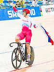 Denis Dmitriev of Russia celebrates winning in the Men's Sprint Finals - 2nd Race during the 2017 UCI Track Cycling World Championships on 15 April 2017, in Hong Kong Velodrome, Hong Kong, China. Photo by Marcio Rodrigo Machado / Power Sport Images