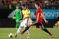 Spain's Saul Niguez (r) and Colombia's Santiago Arias during international friendly match. June 7,2017.(ALTERPHOTOS/Acero) (NortePhoto.com) (NortePhoto.com)