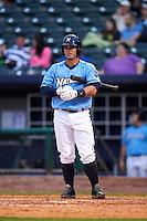 NW Arkansas Naturals catcher Micah Gibbs (7) at bat during a game against the San Antonio Missions on May 30, 2015 at Arvest Ballpark in Springdale, Arkansas.  San Antonio defeated NW Arkansas 5-2.  (Mike Janes/Four Seam Images)