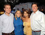 From left: Jeff Michael, Annie Beck, Donna Robin and Stephen Rimes at the Second Annual True Blue Gala sponsored by the Houston Police Foundation at the home of Paige and Tilman Fertitta Saturday Oct. 17,2009. (Dave Rossman/For the Chronicle)