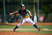 Radek Birkholz during the WWBA World Championship at the Roger Dean Complex on October 20, 2018 in Jupiter, Florida.  Radek Birkholz is a right handed pitcher from Highlands Ranch, Colorado who attends Valor Christian High School.  (Mike Janes/Four Seam Images)