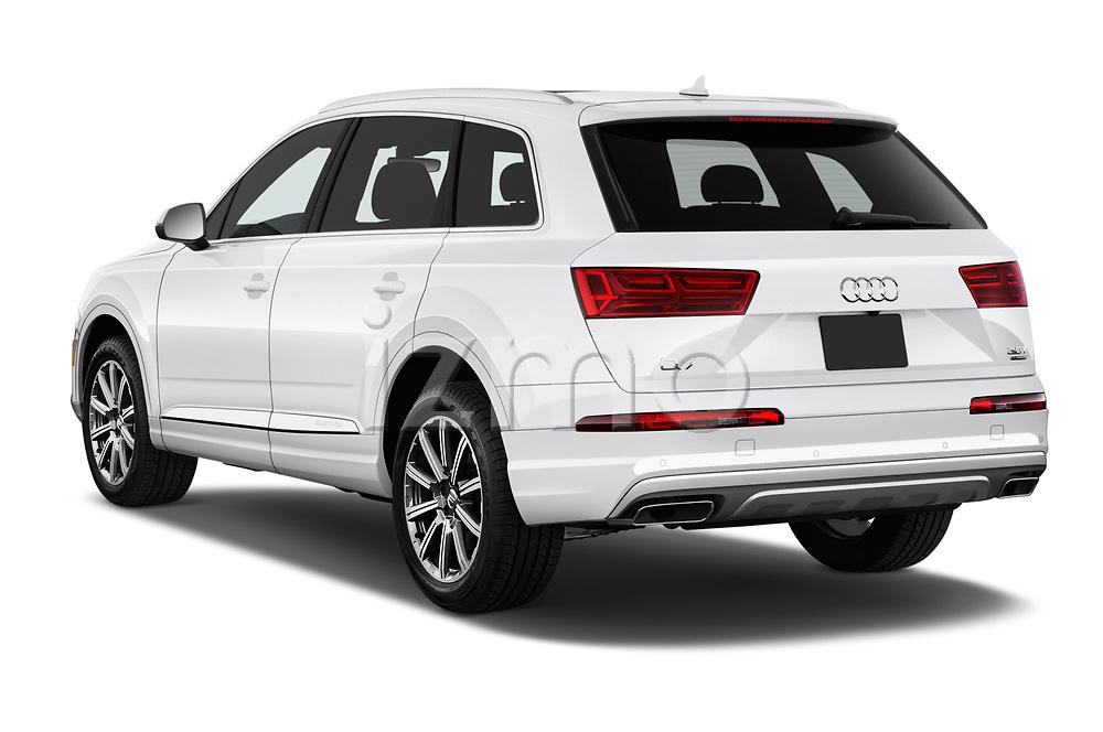 Car pictures of rear three quarter view of 2017 Audi Q7 Premium  5 Door SUV angular rear