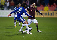 21 November 2010: Colorado Rapids forward Conor Casey #9 and FC Dallas defender George John #14 in action during the 2010 MLS CUP between the Colorado Rapids and FC Dallas at BMO Field in Toronto, Ontario Canada..The Colorado Rapids won 2-1 in extra time....